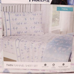 Disney Frozen 2 Flannel Sheet Set Twin Size 3 Pcs